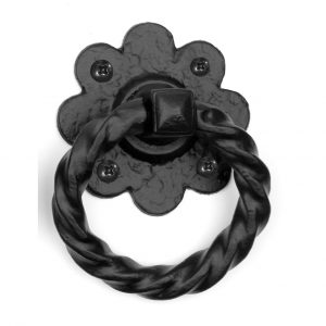 Floral Ring Handle 4""